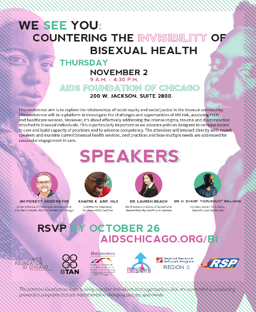 Bisexual Health Conference in Chicago - Registration Now Open