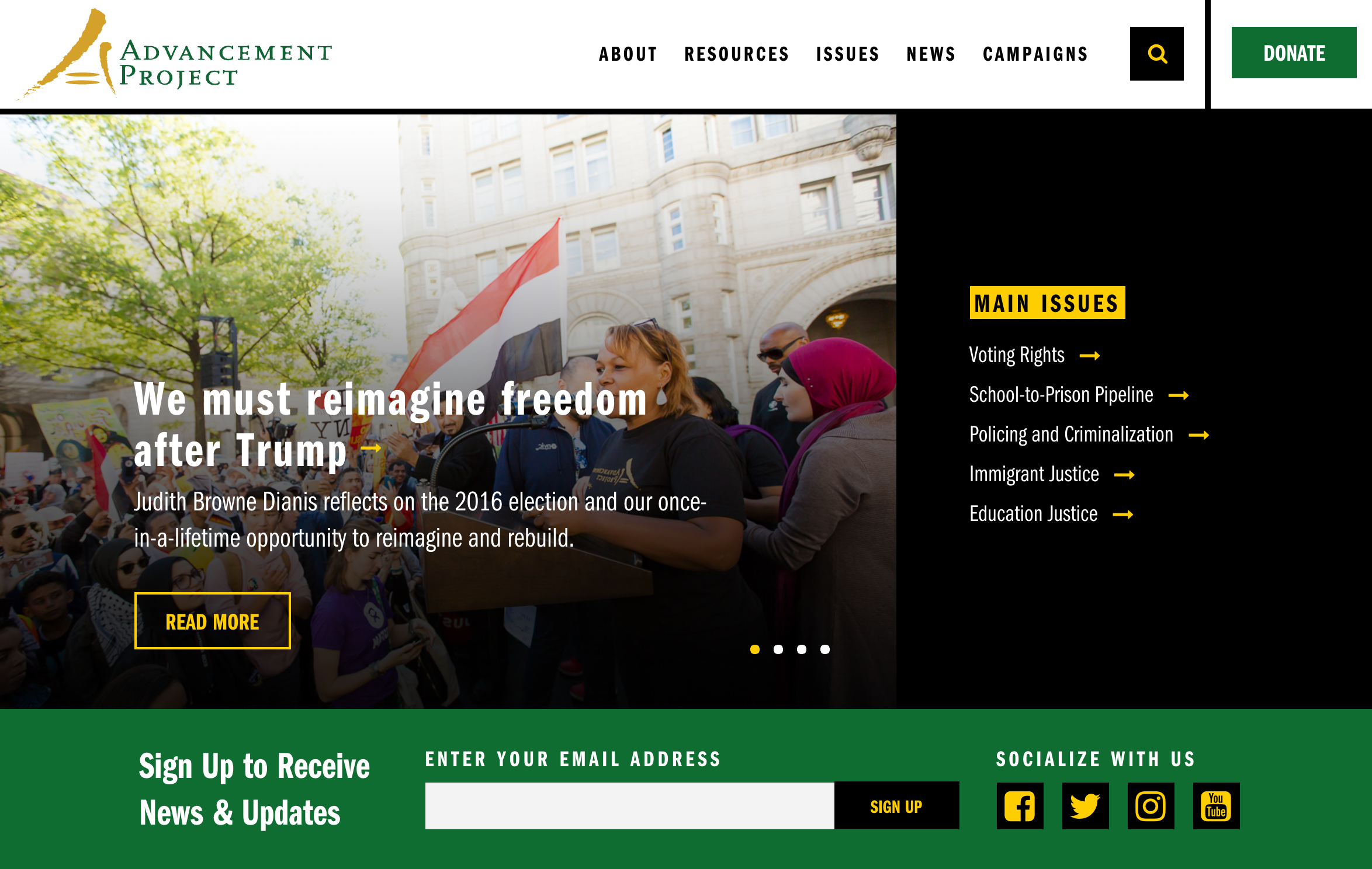 Advancement Project launches new website with improved racial justice tools